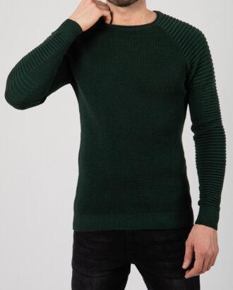 Зеленый джемпер приталенного кроя. Арт.:8-2116