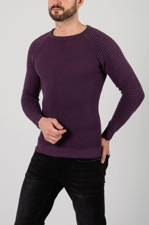 Фиолетовый мужской джемпер. Арт.:8-2165