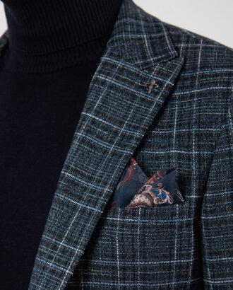 Мужской  пиджак в контрастную клетку. Арт.:2-2119-8