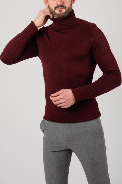 Мужская бордовая водолазка. Арт.:8-2120