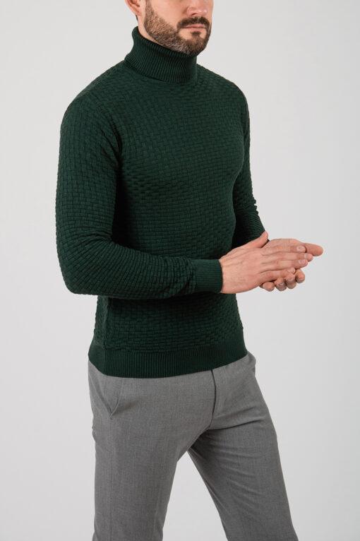 Мужская водолазка зеленого цвета. Арт.:8-2121