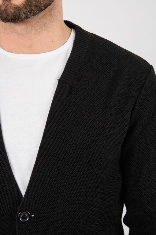Мужской черный кардиган. Арт.:8-2124