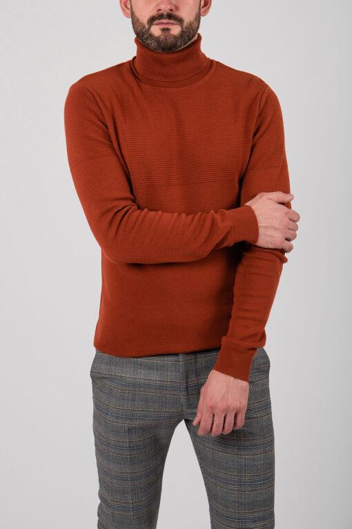 Мужская водолазка терракотового цвета. Арт.:8-2126