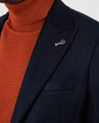 Мужской пиджак синего цвета. Арт.:2-2127-5