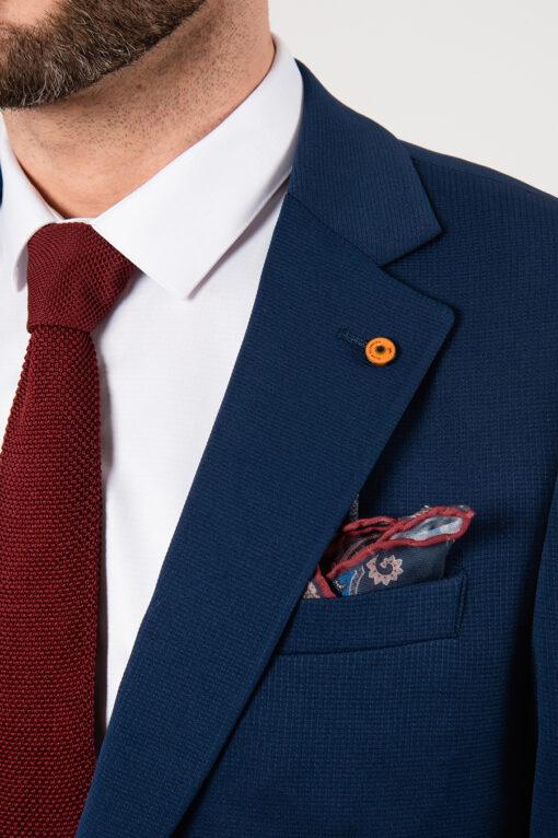 Синий мужской приталенный пиджак. Арт.:2-2130-1