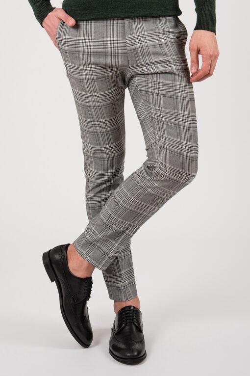 Клетчатые брюки серого цвета. Арт.:6-2135-3