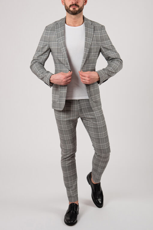 Мужской костюм-двойка серого цвета. Арт.:4-2140-3