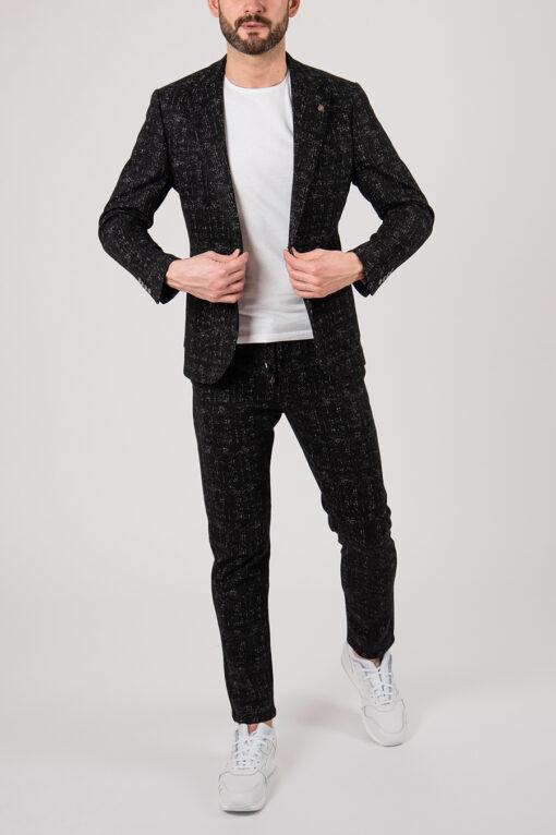 Черный костюм-двойка sport fit. Арт.:4-2145-5