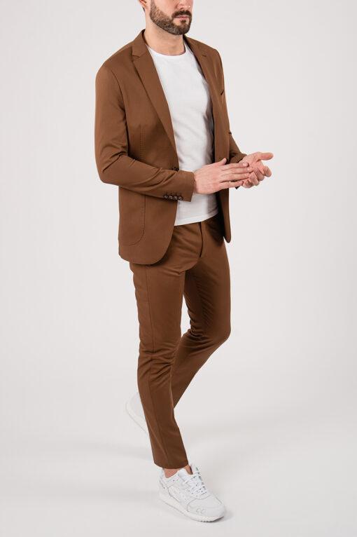 Мужской коричневый костюм-двойка. Арт.:4-2146-3