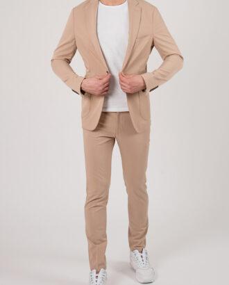 Бежевый мужской костюм-двойка. Арт.:4-2147-3