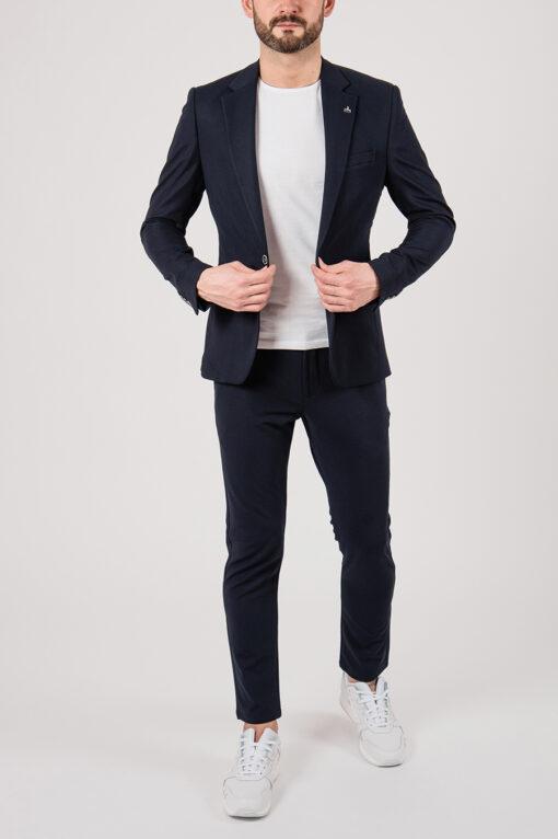 Современный костюм-двойка синего цвета. Арт.:4-2148-5