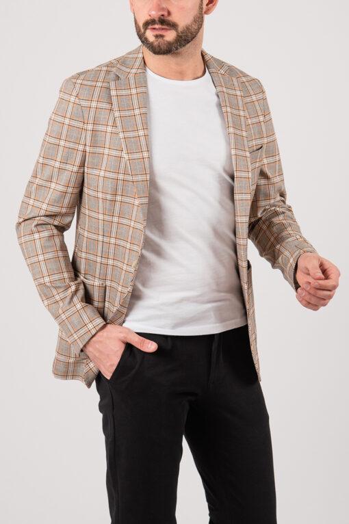 Летний пиджак в контрастную клетку. Арт.:2-2149-3