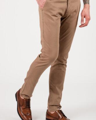 Мужские кэжуал-брюки бежевого цвета. Арт.:6-2151-2