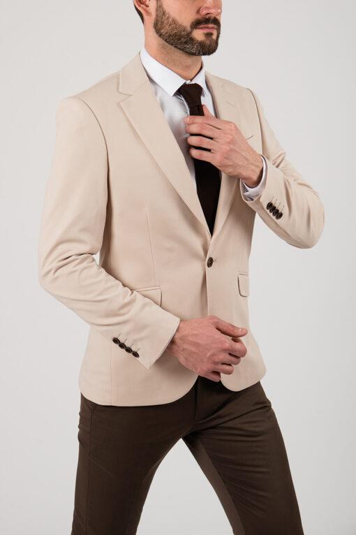 Мужской бежевый пиджак. Арт.:2-2154-1