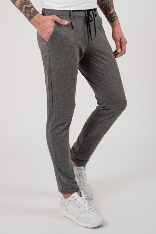 Серые мужские брюки на шнурке. Арт.:6-2162-2