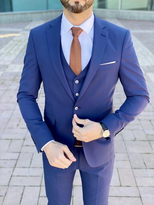 Стильная тройка насыщенного синего цвета. Арт.:4-2257-3