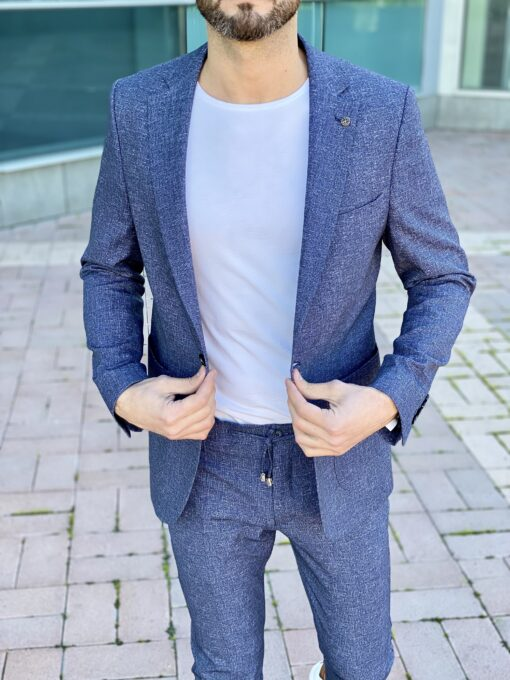 Мужской костюм-двойка синего цвета. Арт.: 4-2260-5