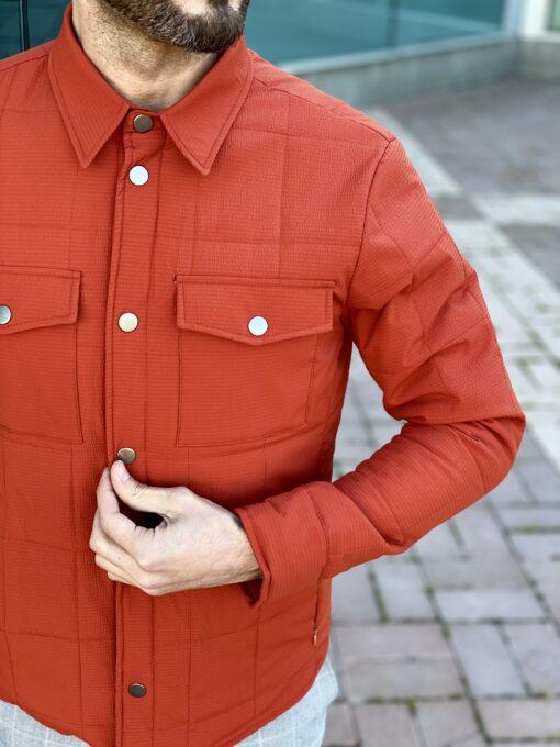 Мужская оранжевая куртка в стиле кэжуал. Арт.: 15-2235