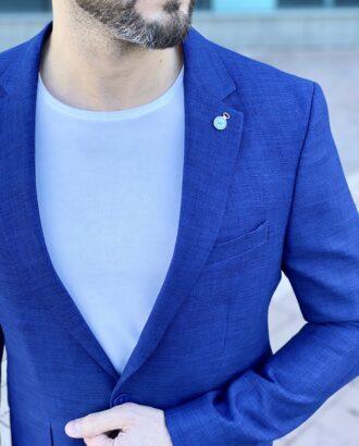 Синий мужской пиджак. Арт.: 2-2213-1
