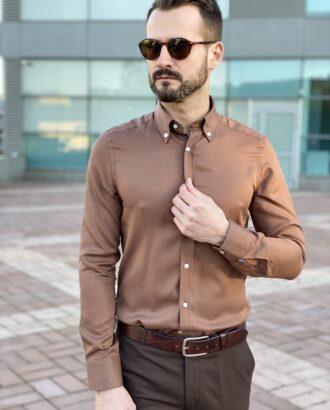 Мужская коричневая рубашка. Арт.: 5-2240-3