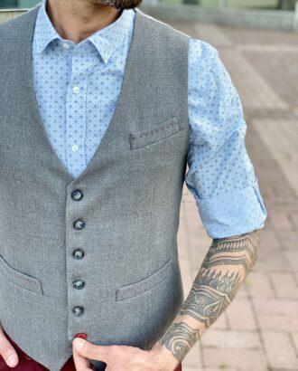 Мужской жилет серого цвета. Арт.: 3-2012-10