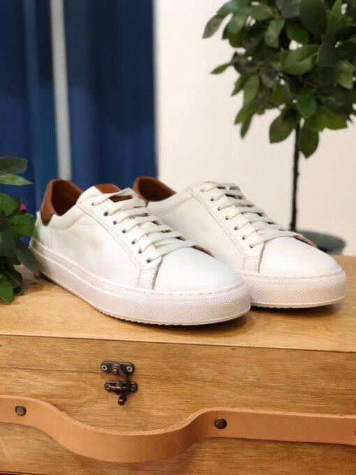 Мужские кеды белого цвета. Арт.: 14-2007
