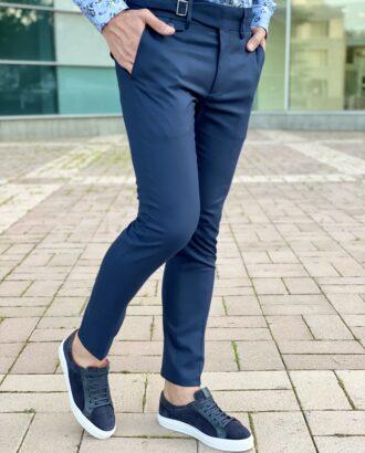 Стильные брюки синего цвета. Арт.: 6-2260-2