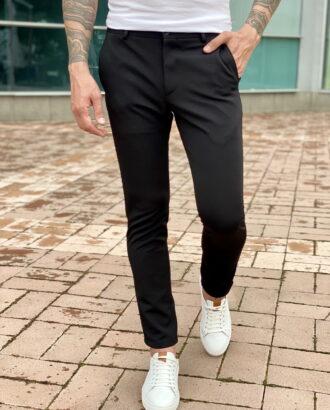 Зауженные черные брюки. Арт.:2318