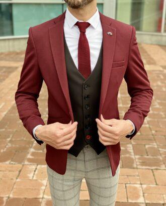 Мужской пиджак бордового оттенка. Арт.:2332