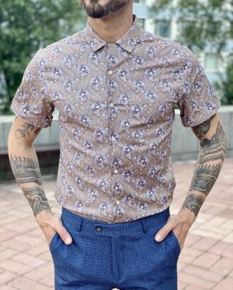 Рубашка бежевого цвета. Арт.:2344