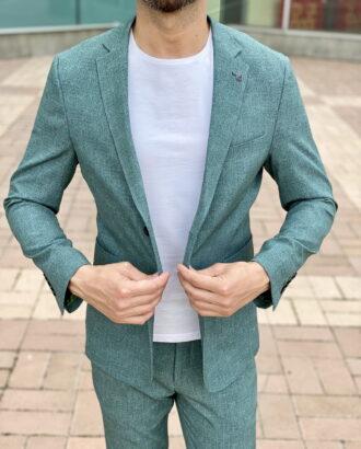 Костюм-двойка зеленого цвета. Арт.:2347