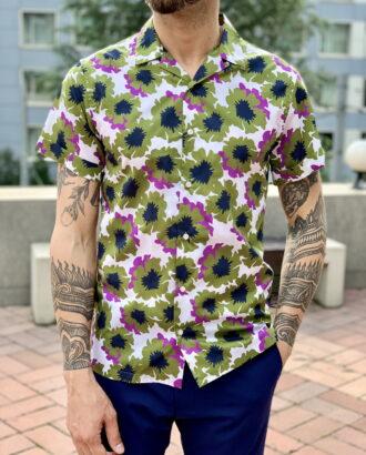 Стильная рубашка с коротким рукавом. Арт.:2309