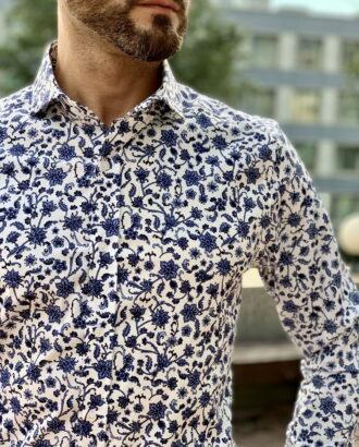 Белая рубашка с принтом. Арт.:2312