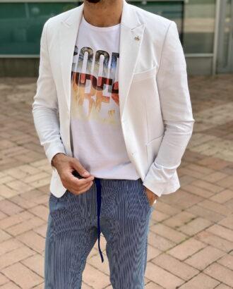Стильный пиджак белого цвета. Арт.:2368