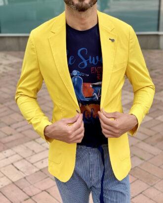 Стильный пиджак желтого цвета. Арт.:2371