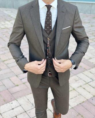 Коричневый костюм-тройка. Арт.:2410