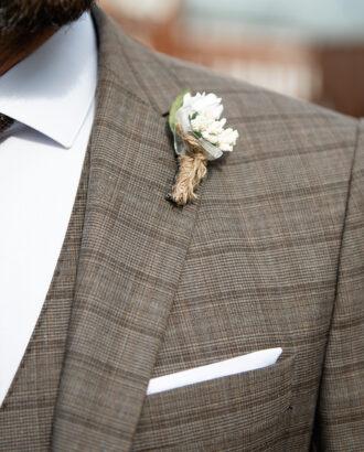 Мужской костюм-тройка коричневого цвета. Арт.:2412