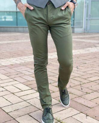 Мужские casual брюки зеленого цвета. Арт.: 2468
