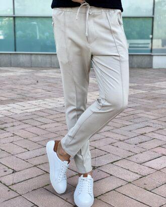 Бежевые полуспортивные брюки в стиле sport shick. Арт.: 2479
