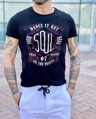 Черная футболка с принтом. Арт.: 2440