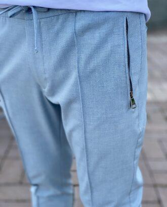 Серые полуспортивные брюки в стиле sport shick. Арт.: 2482