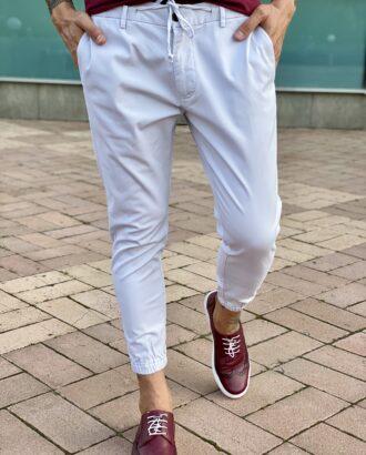 Белые брюки в стиле спорт-шик. Арт.: 2475