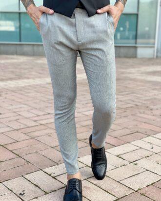 Серые брюки укороченной длины итальянского кроя. Арт.: 2478