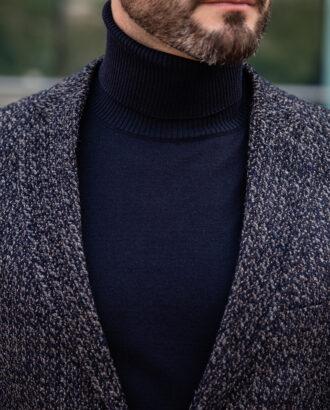 Серый фактурный пиджак на каждый день. Арт.: 2512