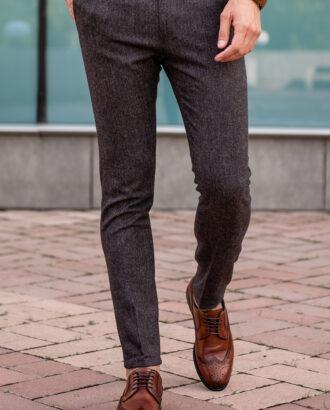 Зауженные коричневые брюки. Арт.: 2543