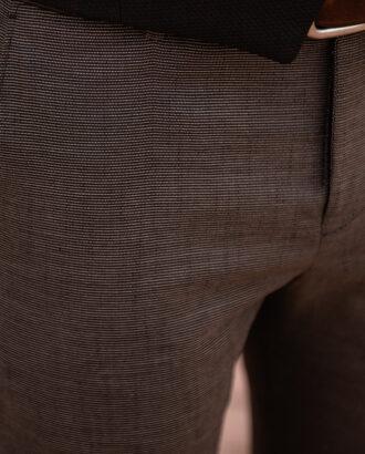 Коричневые зауженные брюки. Арт.: 2542