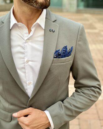 Серый приталенный пиджак. Арт.: 2606